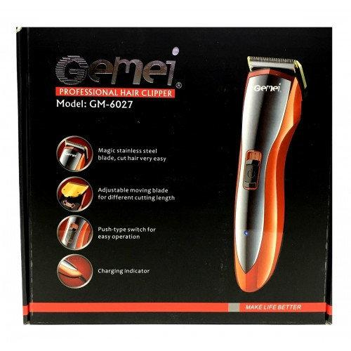 Професійна машинка для стрижки волосся з насадками Gemei GM-6027