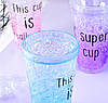 Стакан поликарбонатный охлаждающий с трубочкой ICE CUP Benson BN-283 фиолетовый | бутылочка со льдом Бенсон, фото 9