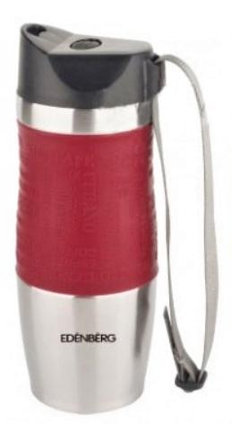 Термокружка из нержавеющей стали Benson BN-971 (500 мл) красная   термочашка Бенсон   термос Бэнсон