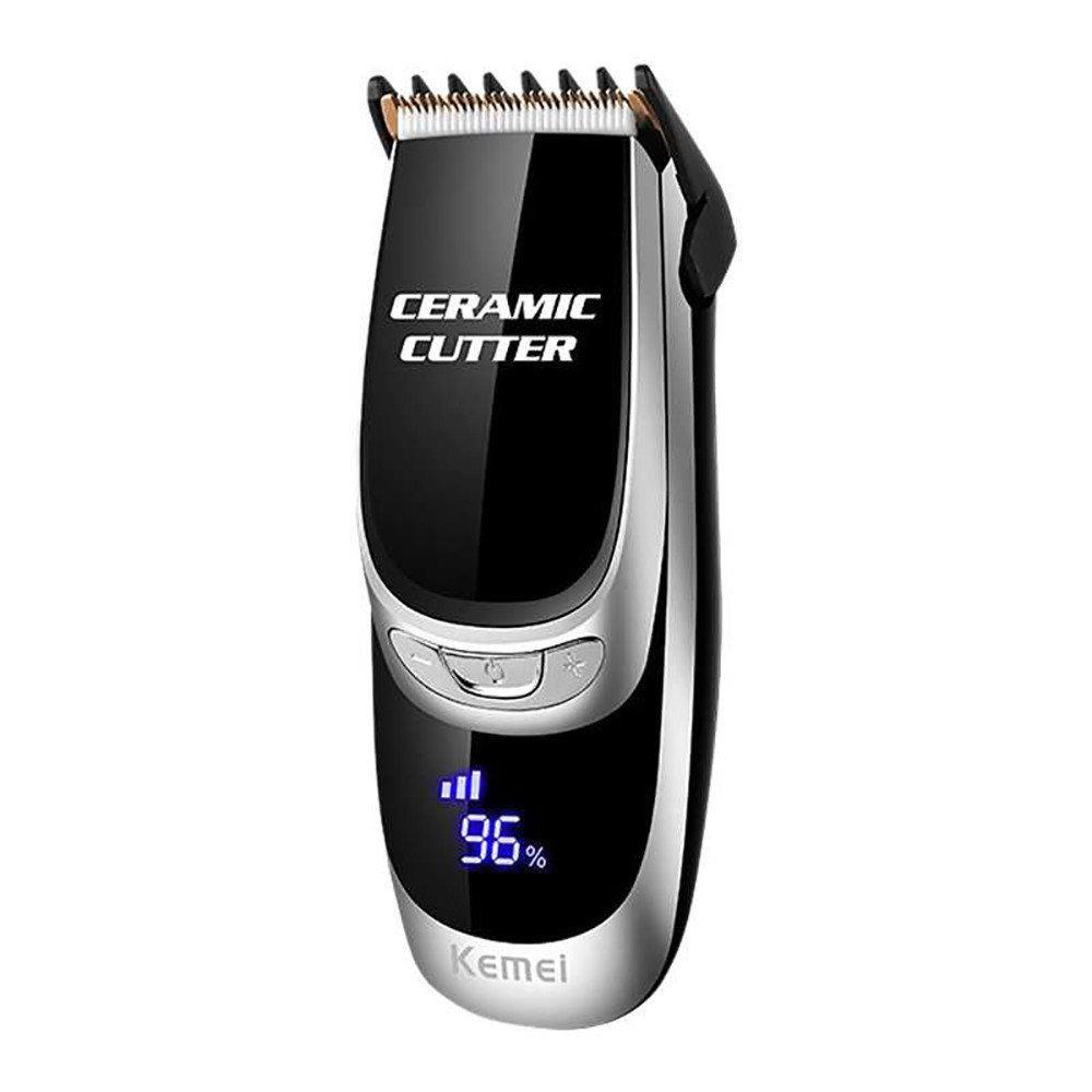 Профессиональная машинка для стрижки волос с насадками Kemei LFQ-KM-6035 LED дисплей | триммер для волос