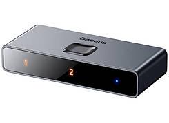 HDMI Сплиттер Baseus Matrix HDMI на 2 х HDMI 4K Темно-серый (CAHUB-BC0G)