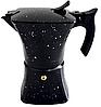 Гейзерная кофеварка из литого алюминия на 6 чашек Benson BN-148 черная | турка Бенсон, Бэнсон, фото 2