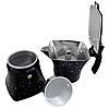 Гейзерная кофеварка из литого алюминия на 6 чашек Benson BN-148 черная | турка Бенсон, Бэнсон, фото 3
