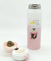 Термос из нержавеющей стали Benson BN-081 (350 мл) розовый | термочашка Бенсон | термокружка Бэнсон