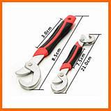 Ключ Snap N Grip 2 в 1 Универсальный Разводной Гаечный Снеп Эн Грип Чудо Ключ Оригинал на блистере, фото 6