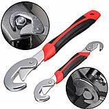 Ключ Snap N Grip 2 в 1 Универсальный Разводной Гаечный Снеп Эн Грип Чудо Ключ Оригинал на блистере, фото 2