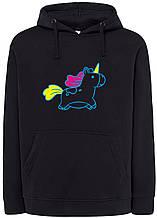 Реглан с капюшоном Unicorn black