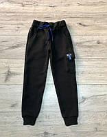 Утепленные трикотажные спортивные штаны с начесом.134  рост.