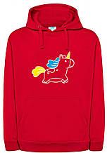Реглан с капюшоном Unicorn red