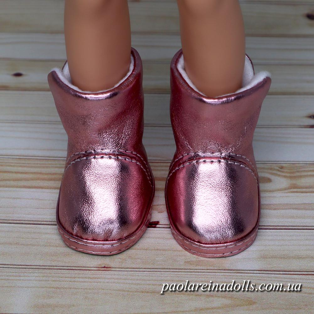 Чобітки рожеві блискучі для ляльок Паола Рейну