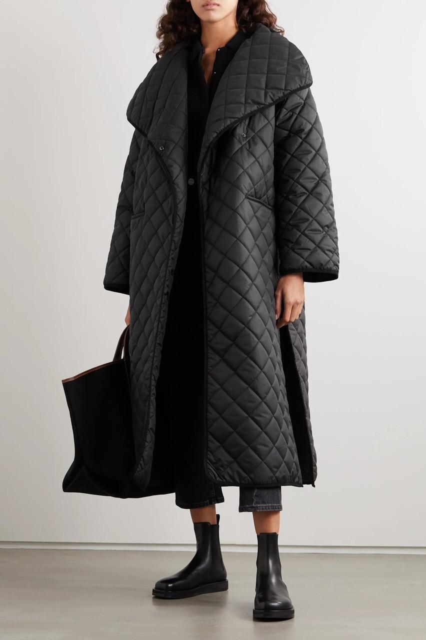 Стеганная длинная куртка-одеяло молодежная 42-46 (в расцветках)