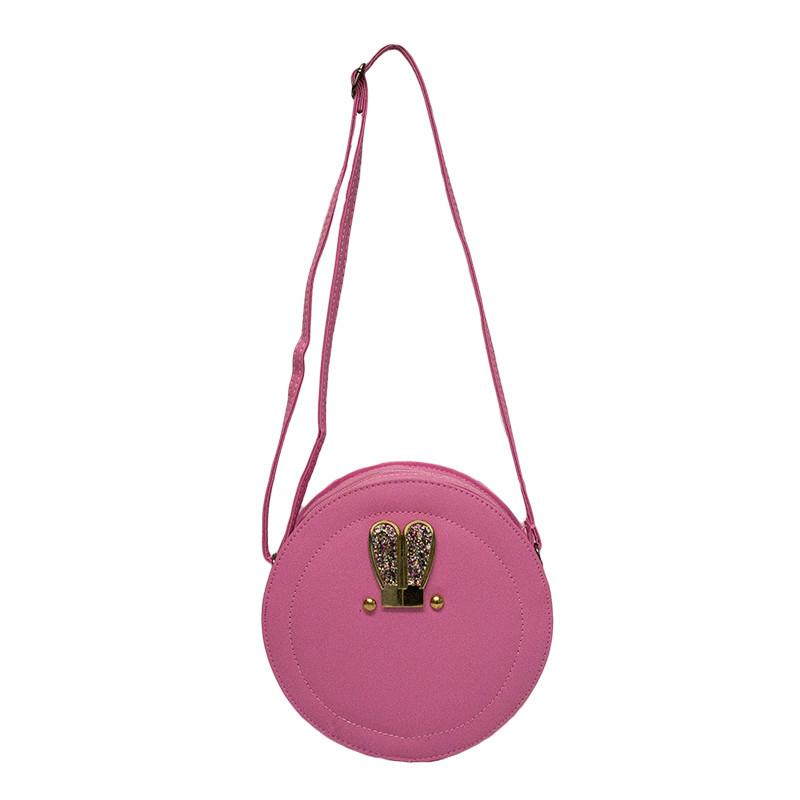 Женская сумка круглая 3 Цвета Розовый