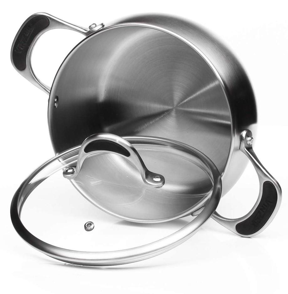 Кастрюля с крышкой Vinzer Harmony 89047 из нержавеющей стали (2.6 л) | набор посуды Винзер | кастрюли, посуда