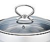 Кастрюля с крышкой из нержавеющей стали Maestro MR-3508-28 (8.6 л)   набор посуды Маэстро   кастрюли Маестро, фото 3