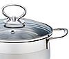 Кастрюля с крышкой из нержавеющей стали Maestro MR-3508-28 (8.6 л)   набор посуды Маэстро   кастрюли Маестро, фото 5