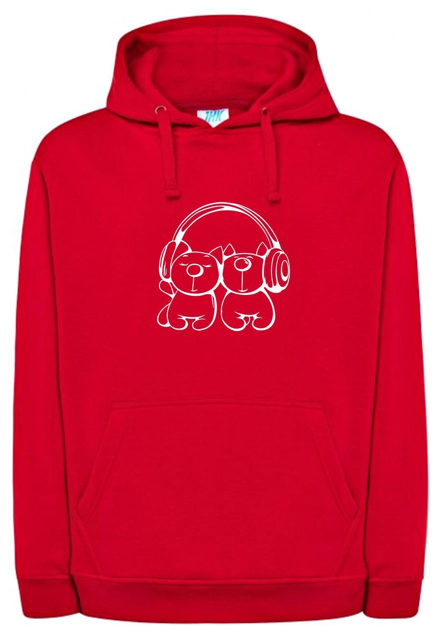 Реглан с капюшоном Melocats red