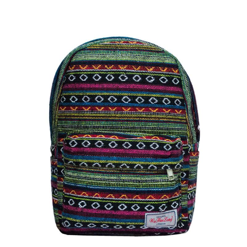 Рюкзак с ярким принтом 9 Рисунков (Вышивка .Зеленый)