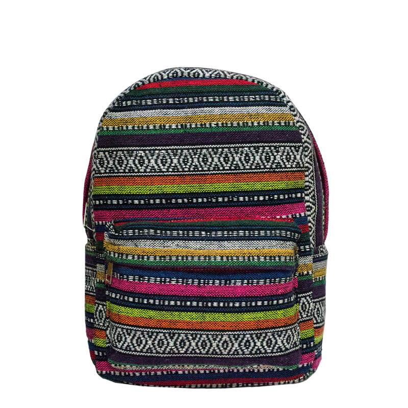 Рюкзак с ярким принтом 9 Рисунков ( Вышивка. Салатовый)