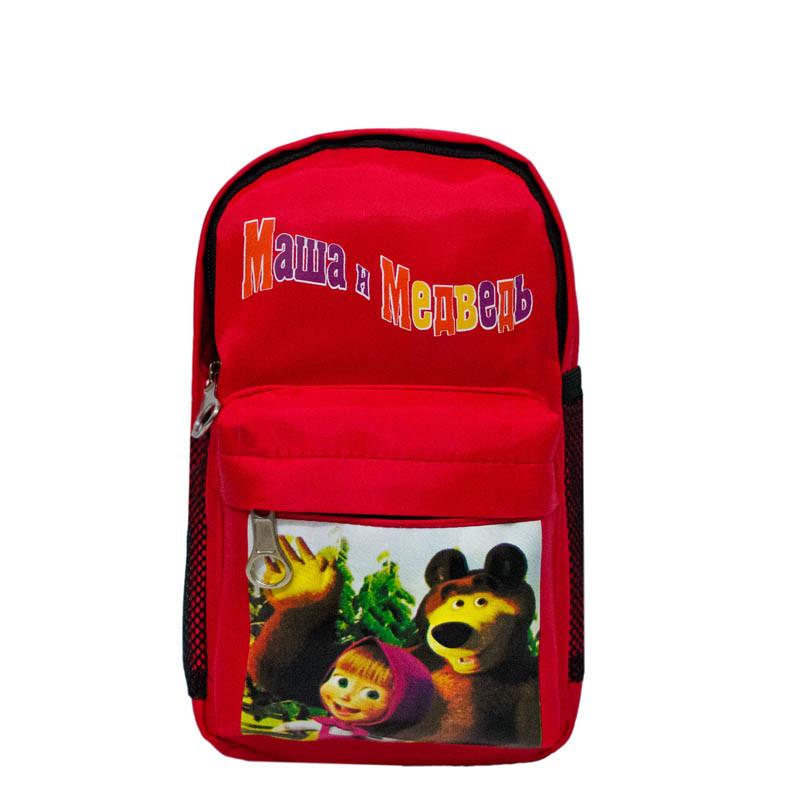 """Рюкзачок """"Мультяшки""""Маша и Медведь"""" 2 Цвета Красный"""