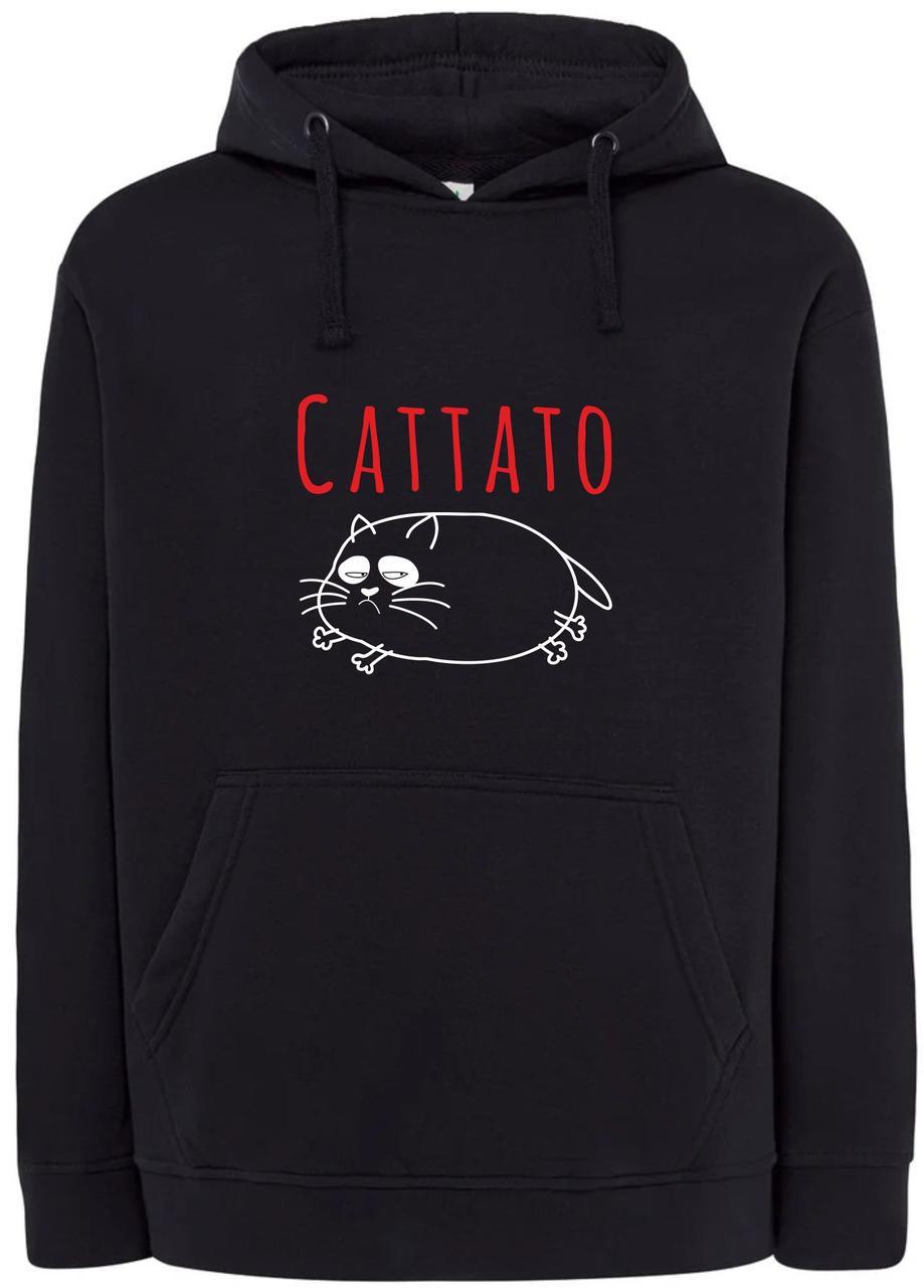 Реглан с капюшоном Cattato black