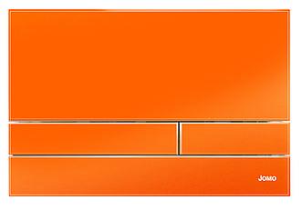 Помаранчева глянцева скляна кнопка змиву серії Exclusive для інсталяцій Werit