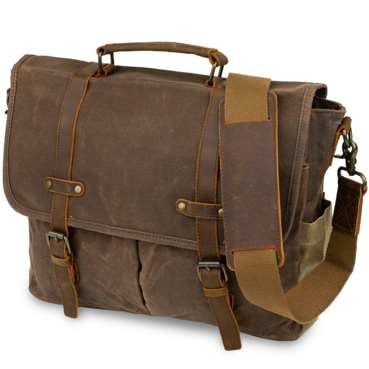 Сумка-портфель на плечо Vintage 20116 Коричневая