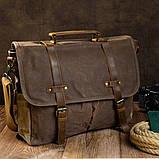 Сумка-портфель на плечо Vintage 20116 Коричневая, фото 2