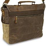 Сумка-портфель на плечо Vintage 20116 Коричневая, фото 4