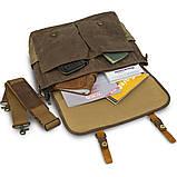 Сумка-портфель на плечо Vintage 20116 Коричневая, фото 6
