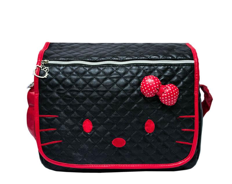 Детская сумка Hello Kitty 4 Цвета Черный (красн.)