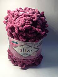 Пряжа для в'язання руками без спиць Puffy ombre batik Alize ( 600 грам - 55 метрів)