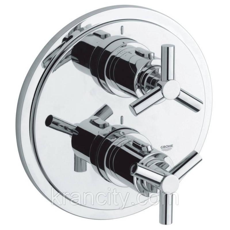 Внешняя часть термостатического смесителя для душа Grohe Atrio 19395000 на два потребителя