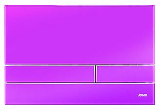 Рожева глянцева скляна кнопка змиву серії Exclusive для інсталяцій Werit