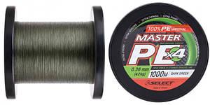 Шнур Select Master PE 1000m 0.06 мм 9кг темн.-зел. (1870.15.90)