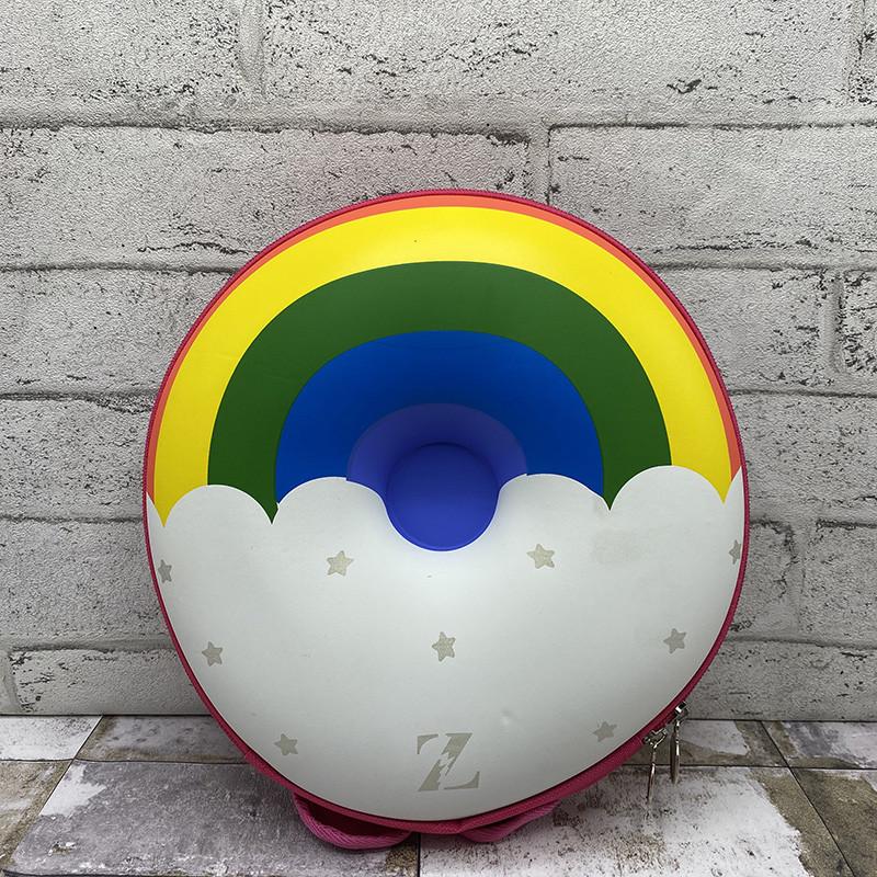 3д рюкзак пончик - радуга