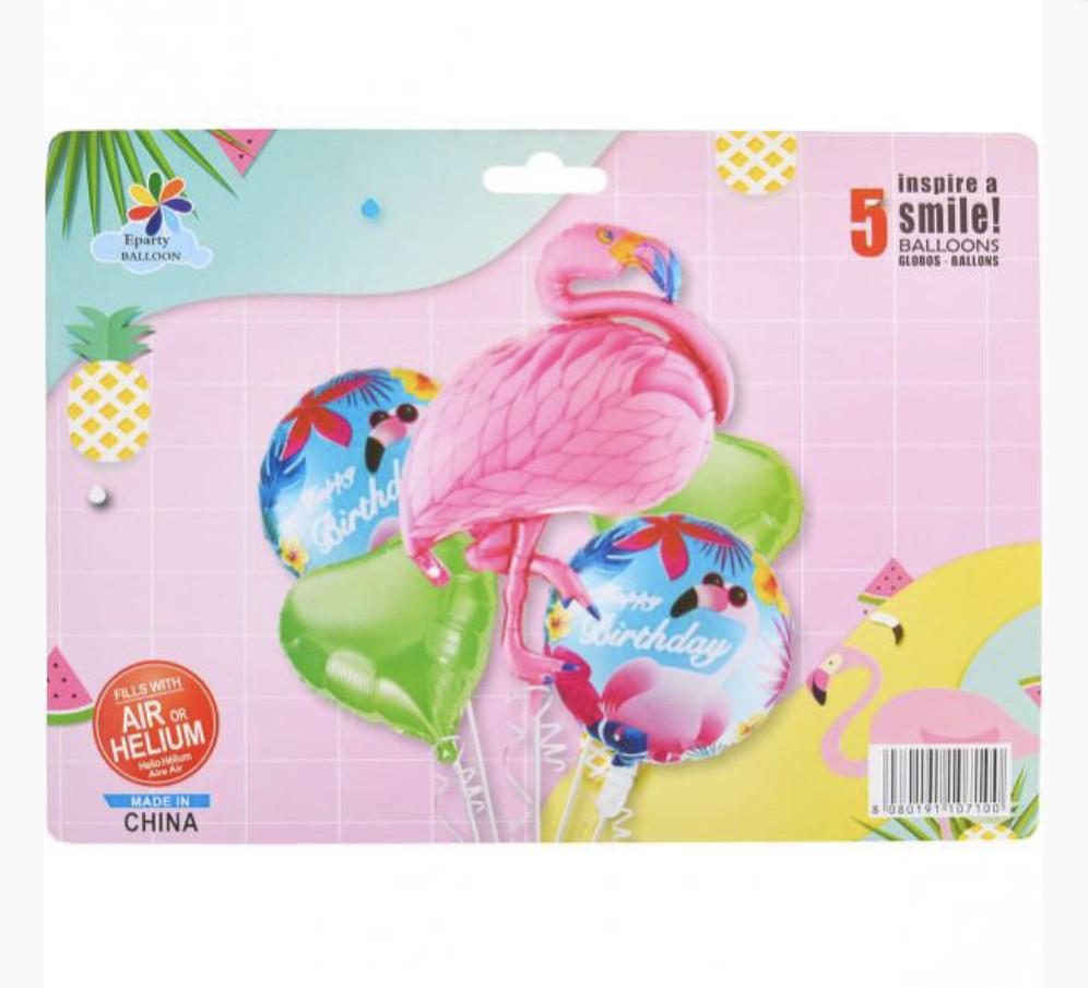 Набор шариков Фламинго.В упаковке 5 шт.
