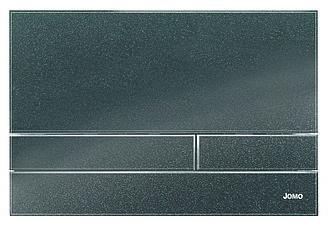 Чоний металік - глянцева скляна кнопка змиву серії Exclusive для інсталяцій Werit
