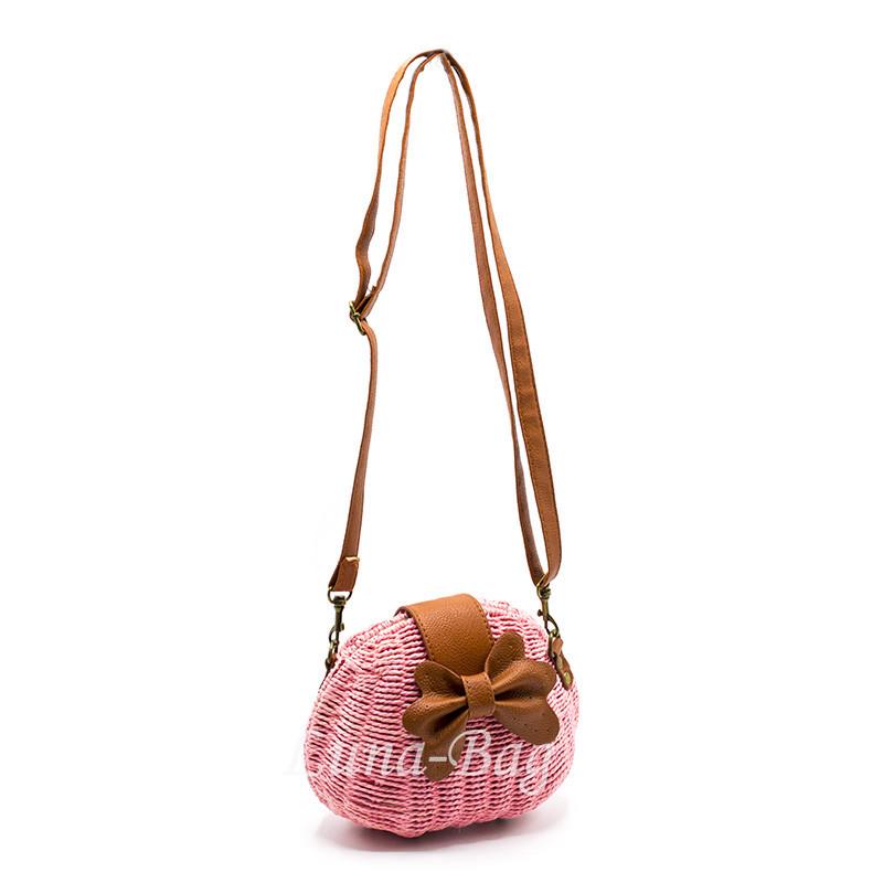 Плетеная сумка 3 Цвета Розовый