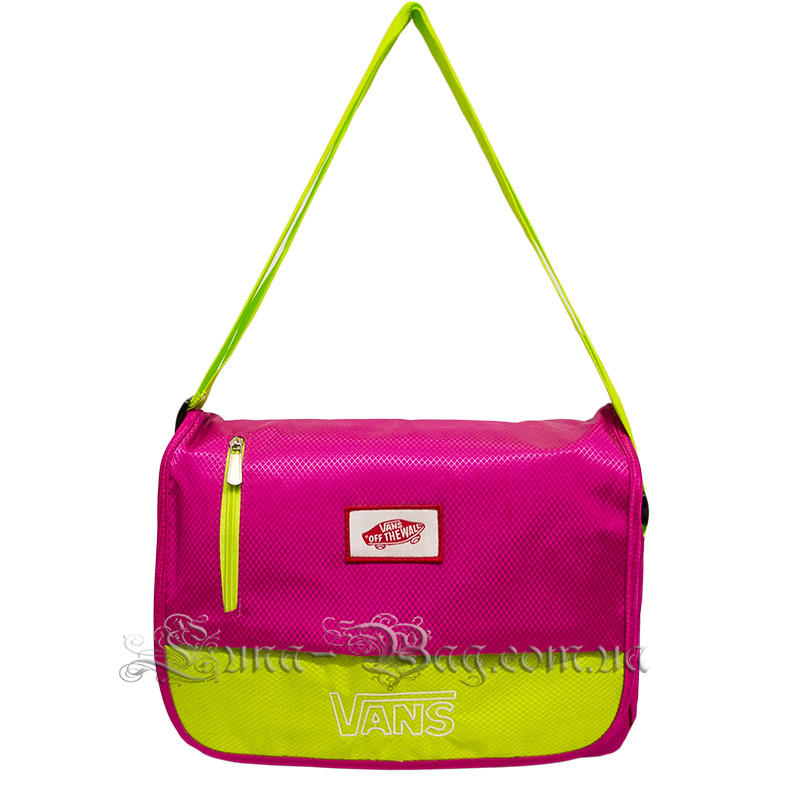 Молодежная сумка через плечо (VANS Big)  4 Цвета Розовый