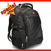 Рюкзак Городской Швейцарский Wenger SwissGear 8810 с USB и AUX кабелем. SwissArmy міський рюкзак