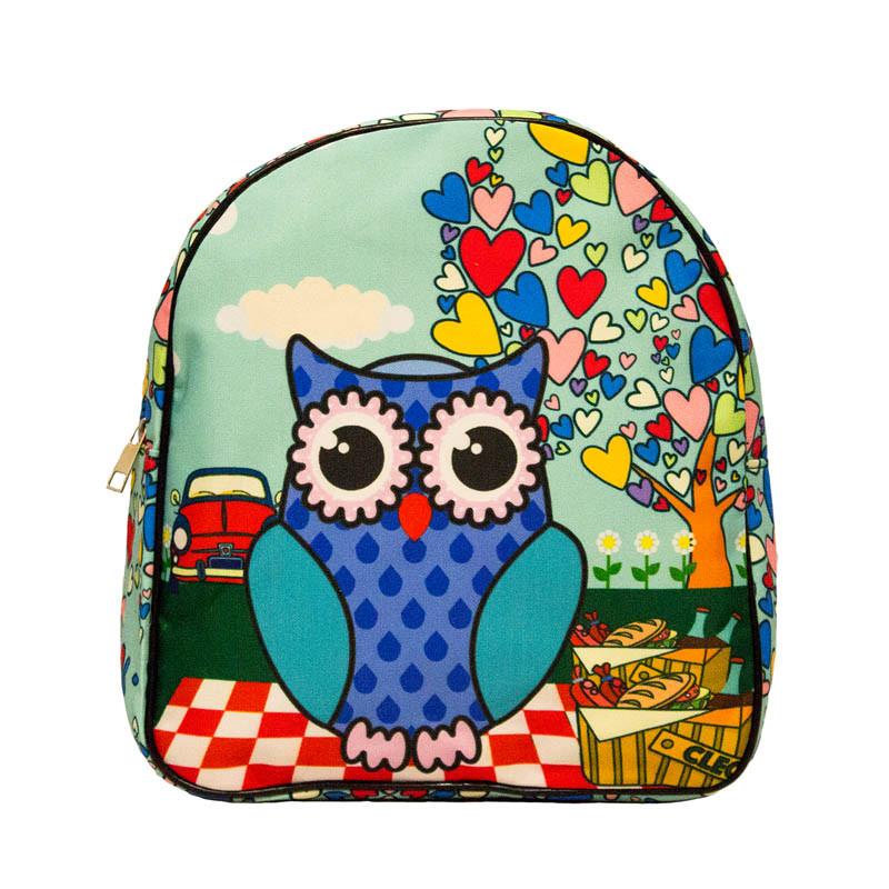Яркий летний рюкзак Bright owls 4 Цвета . Синий