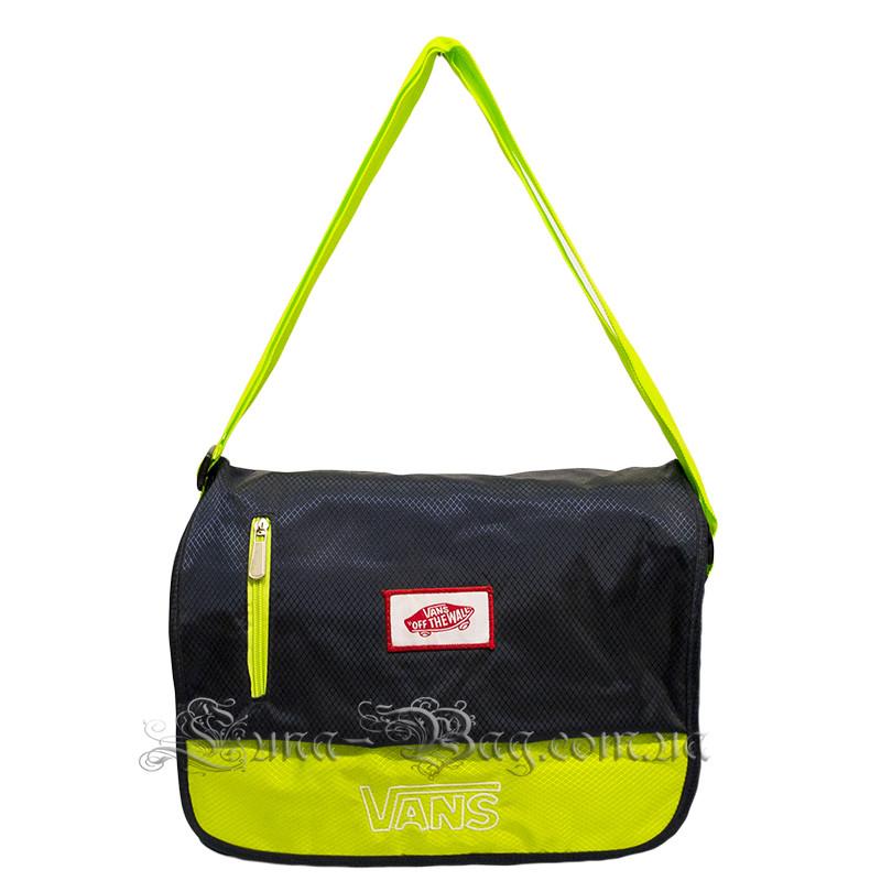 Молодежная сумка через плечо (VANS Big)  4 Цвета Тёмно-Синий
