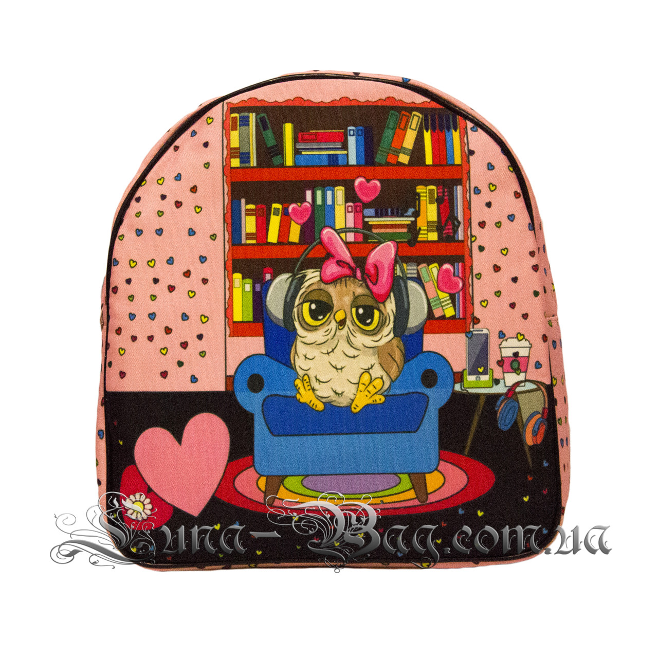 Яркий летний рюкзак Bright owls 4 Цвета . Светло розовый