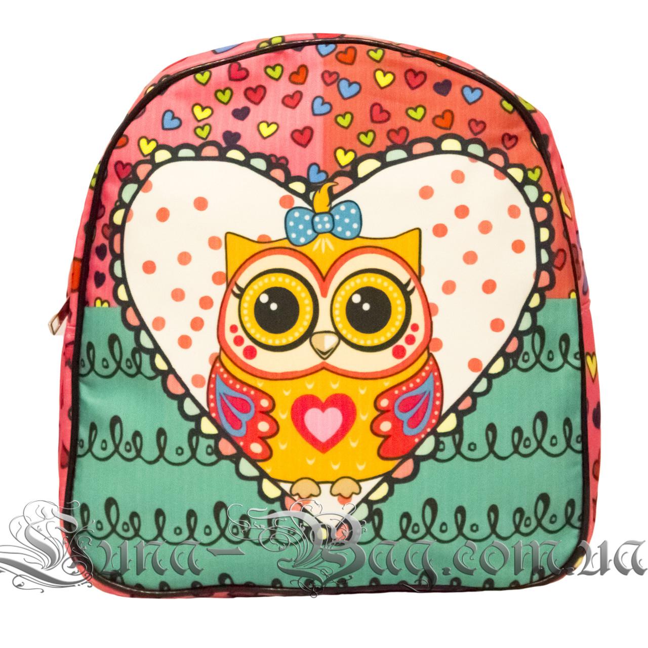 Яркий летний рюкзак Bright owls 4 Цвета . Розовый