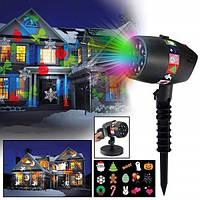 Лазерный новогодний светодиодный проектор для украшения дома и улицы Star Shower Slide 12 слайдов (9)
