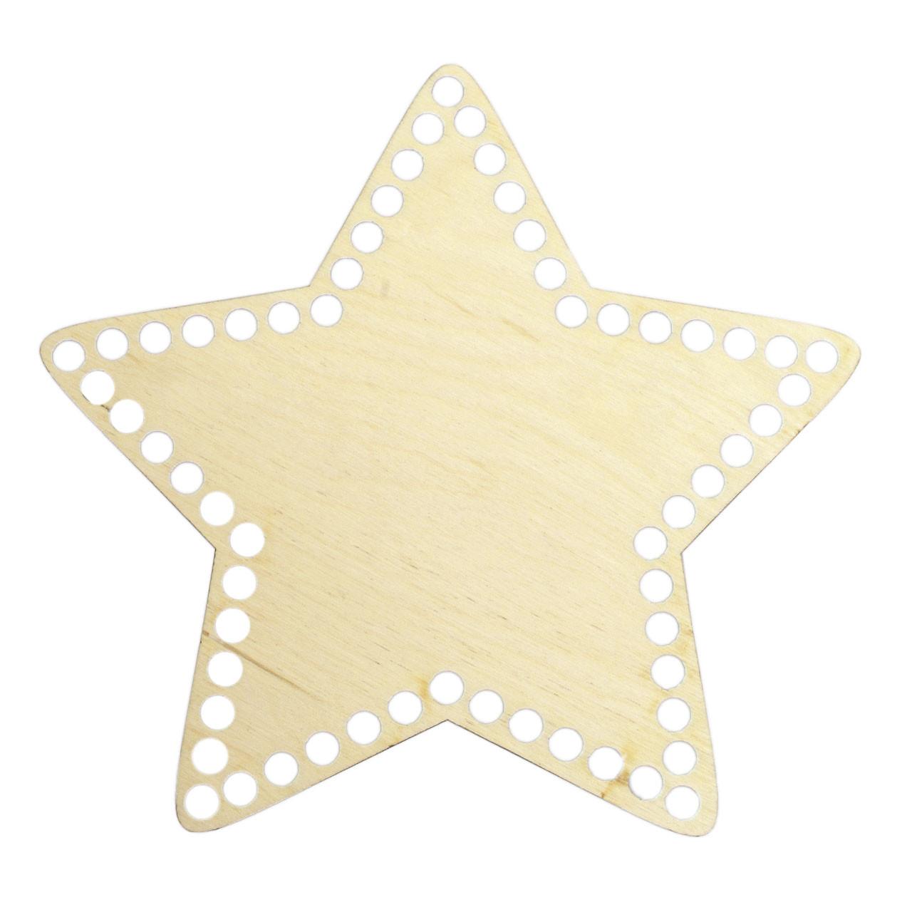 Донышко Звезда 20х20 см (Ø отверстие 8 мм)