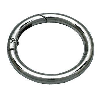 Кольцо-карабин Ø 4 см Серебро