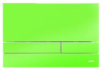 Зелена скляна кнопка змиву серії Exclusive для інсталяцій Werit