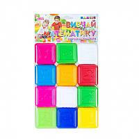 """Кубики """"Вивчай математику"""" 12 куб. 0430 (12) """"BAMSIC"""""""