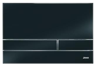Чорна глянцева скляна кнопка змиву серії Exclusive для інсталяцій Werit